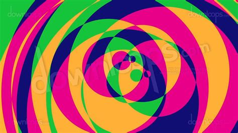 psychedelic circles  colorful graphical motion