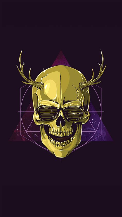 Hipster Skull HD Wallpaper For Your Mobile Phone