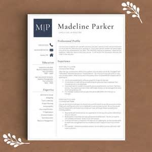 three page resume professional resume template for word pages by thetemplatestudio