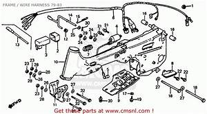 Honda Atc110 1981 Usa Frame    Wire Harness 79