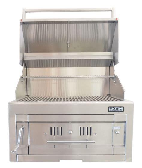 sunstone  dual zone stainless steel charcoal grill