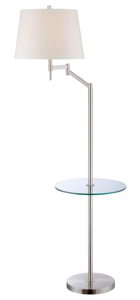 floor ls swing arm lite source ls 82139 eveleen swing arm floor l with tray