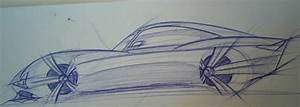 Side View Sports Car Sketch by Mitki4a on DeviantArt