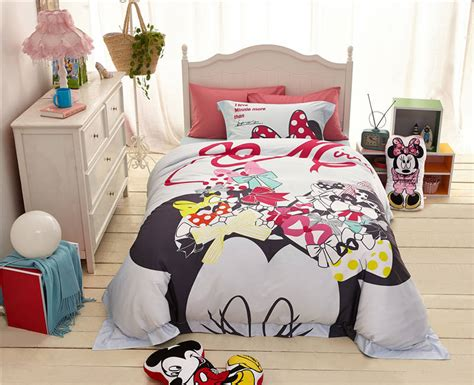 High Quality 1000tc Minnie Mouse Bedding Set For Girl's