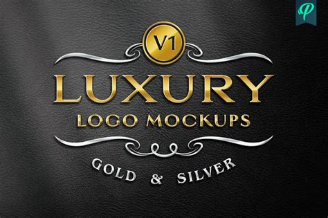 Free for personal and commercial use. Gold-relief-logo-mockup-template - Free Download Mockup