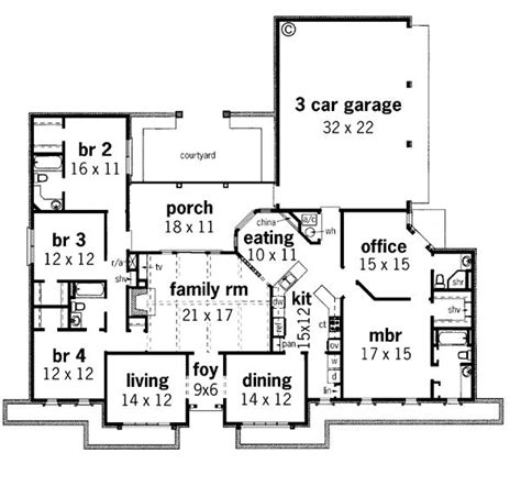 southwest style house plans contemporary prairie style southwest house plan 65606