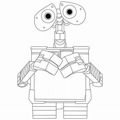 Coloring Wall Pages Disney Printable Walle Colouring