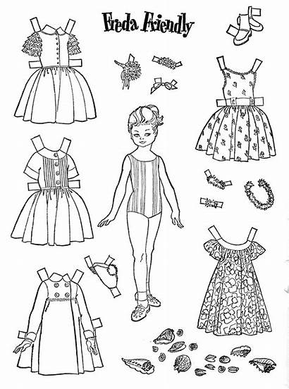 Doll Dolls Coloring Paper Printable Pages 1962