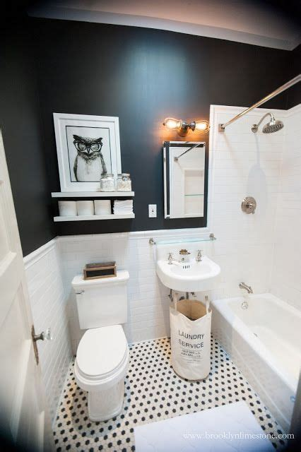 Small Black And White Bathroom by Black And White Bathroom Mini Makeover Complete Color