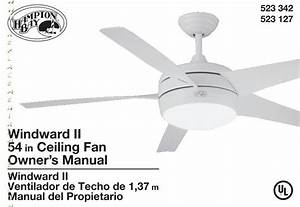 Hampton Bay Ceiling Fan Remote Model 9t Manual