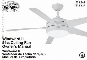Hampton Bay Thermostatic Ceiling Fan Light Remote Control