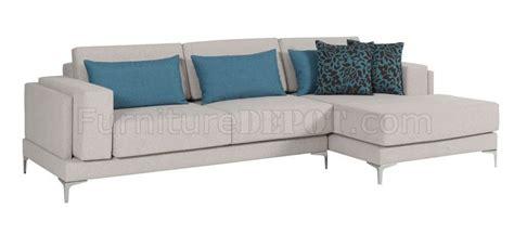 Modern Sofa Legs by Fabric Modern Sectional Sofa W Metal Legs