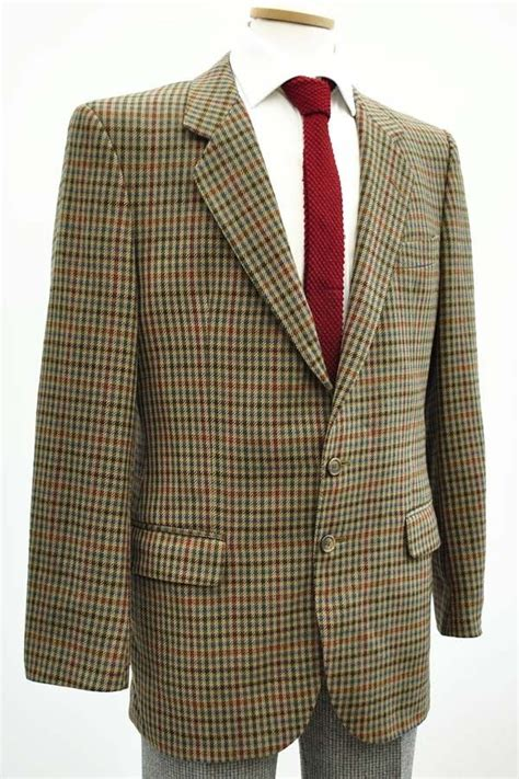 mens austin reed brown houndstooth tweed check blazer