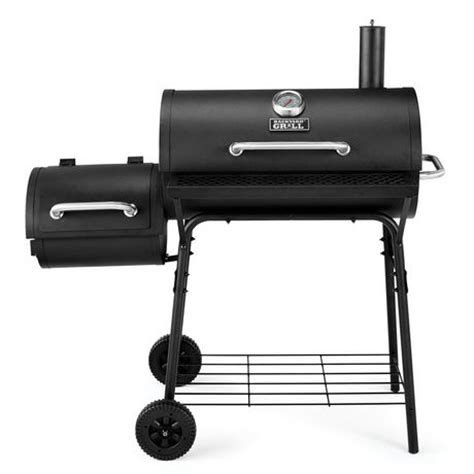 backyard grill walmart backyard grill 30 quot charcoal barrel grill with side smoker