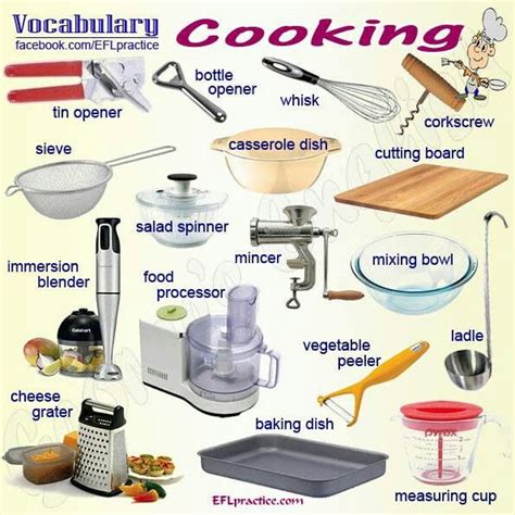 word for cuisine cooking vocab kitchen vocabulary