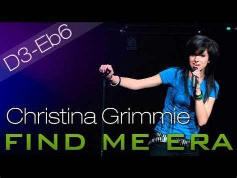 grimmie find me era vocal range d3 e 6 f6