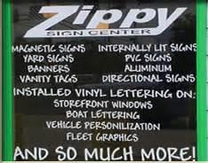 zippy sign center vinyl lettering With rta vinyl lettering