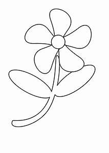 Black And White Cartoon Flowers