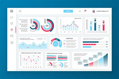 dashboard admin panel vector design template