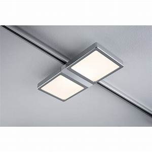 spots et suspensions pour rail paulmann panel double led With carrelage adhesif salle de bain avec spot led non encastrable orientable