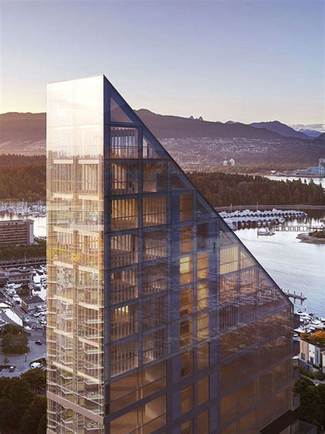 shigeru ban s timber trapezoid tower for vancouver