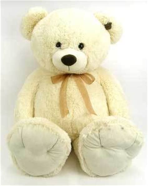 peluche ours g 233 ant 110 cm blanc