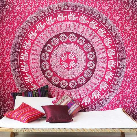 double queen ombre mandala elephant tapestry bedspread