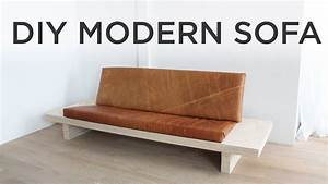 diy modern sofa how to make a sofa out of plywood youtube With how to make a sofa bed
