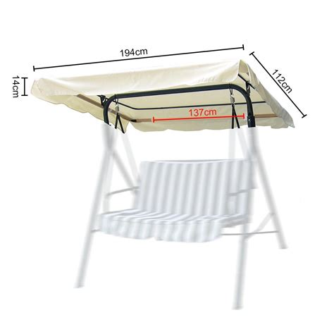 Replacement Hammock Canopy by Swing Canopy Replacement Seat Garden Hammock 2 3 Seater
