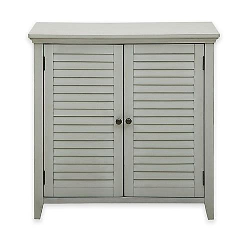 Bathroom Cabinets Bed Bath And Beyond by Pulaski Louvered Bathroom Storage Cabinet In Grey Bed