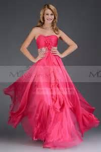robe longue invitã mariage fleur azalé fushia robe longue de soirée pour mariage pas cher