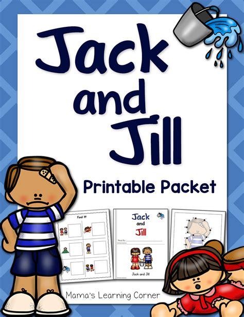 and nursery rhyme packet mamas learning corner 183 | Jack and Jill Nursery Rhyme