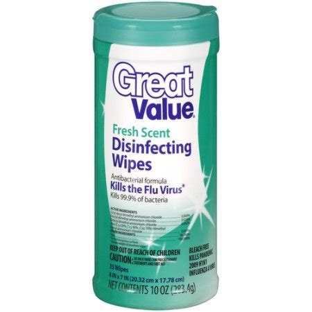 Clorox Disinfecting Bathroom Cleaner Msds Sheet by Great Value Fresh Scent Disinfecting Wipes 35ct Walmart