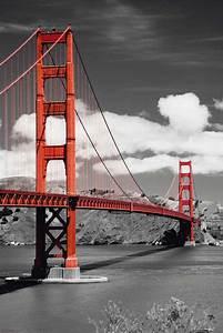Schwarz Weiß Bilder Mit Farbe Städte : san fransisco golden gate bridge poster 61x91 5 ~ Orissabook.com Haus und Dekorationen