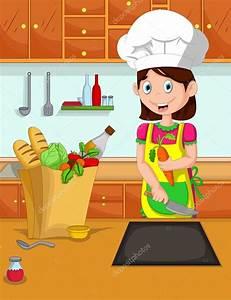 cuisinier de dessin anime mignon maman dans la cuisine With dessin anime de cuisine