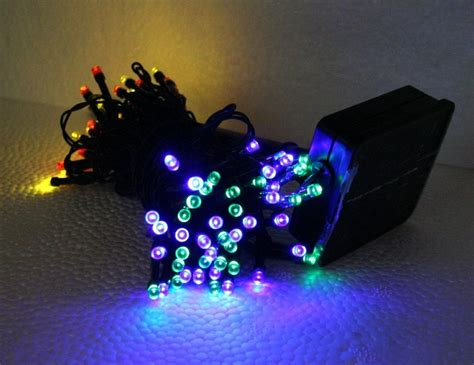 multi color solar powered string lights