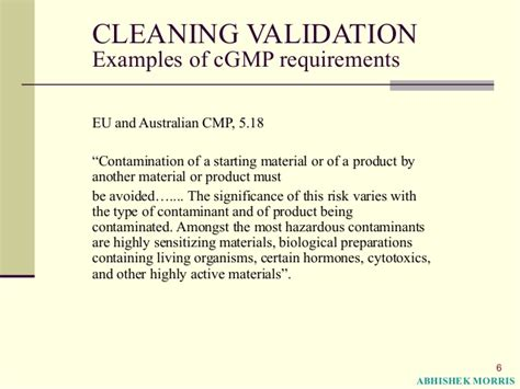 Basic Concepts Of Cleaning Validation
