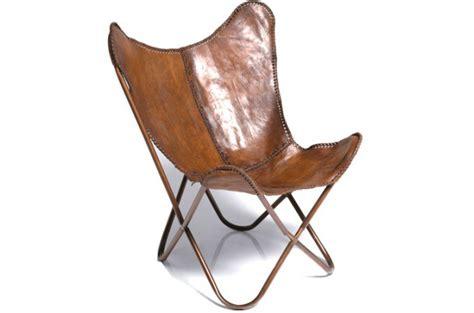 fauteuil transat kare design cuir de vache clarabelle
