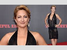 Zoe Bell shows off her enviable figure at The Hateful