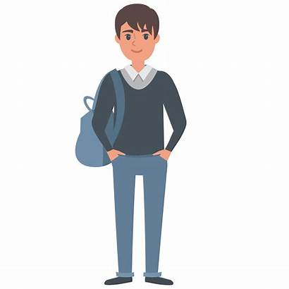 Student Vector Students Young Male Clipart Visa