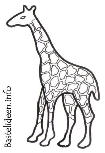 kostenlose malvorlage oder bastelvorlage giraffe
