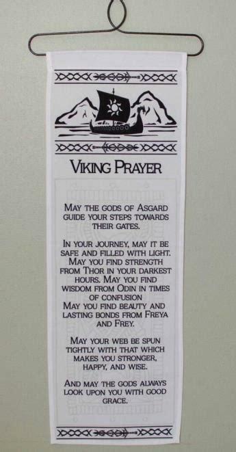 viking prayer wall hanging