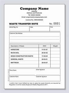 Waste Transfer Note Personalised Duplicate Pads