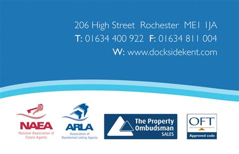 estate agent business cards