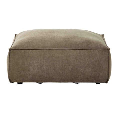 canapé pouf modulable pouf de canapé modulable en tissu taupe chiné rubens