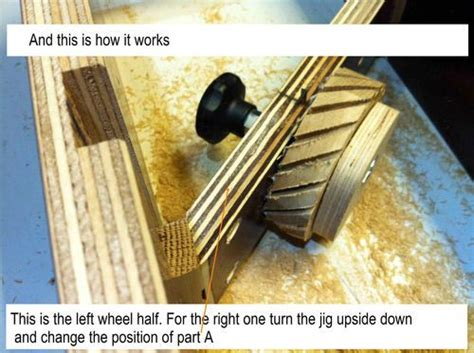 combine  jig  making tractor wheels woodworking