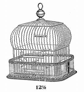Vintage Clip Art - Fab Bird Cage - The Graphics Fairy