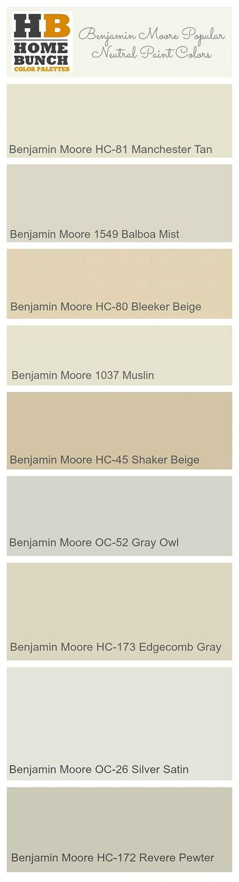 benjamin popular neutral paint colors benjamin
