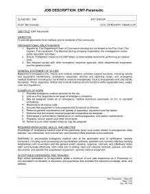 Emt Basic Resume Objective by Paramedic Resume Template Website Resume Cover Letter
