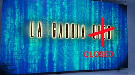 la 7 la gabbia la gabbia open chiude per sempre il talk show di la7 con